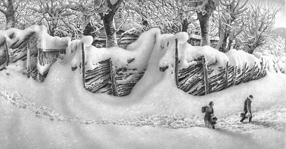 Реалистички пејзажи направени само со молив