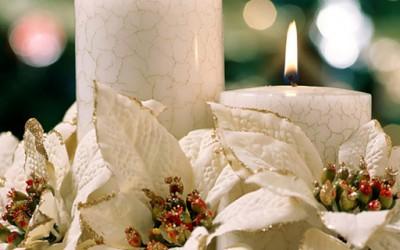Декорација на Божиќни свеќи
