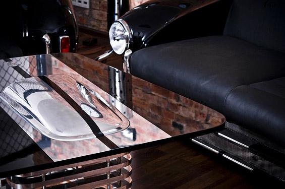 Дневна соба од автомобилски делови