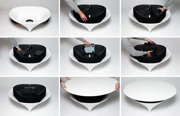 Аудио кафе масичка