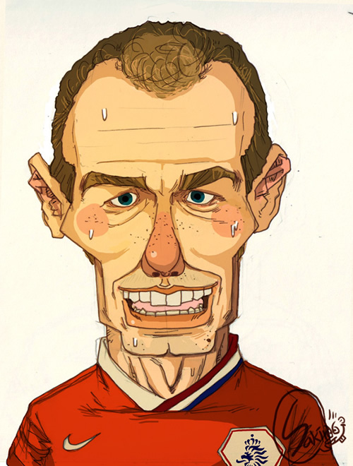 Карикатури на најдобрите фудбалери