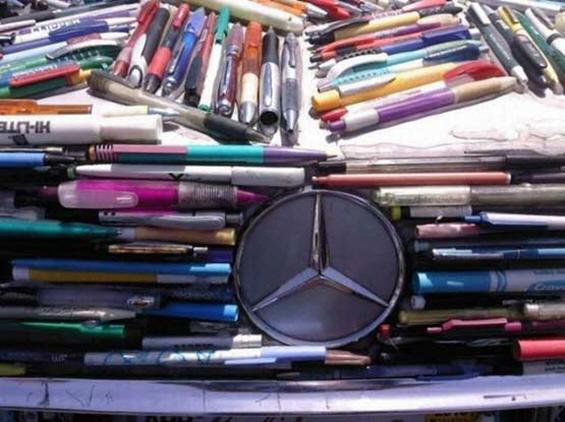 Мерцедес прекриен со 10 илјади пенкала