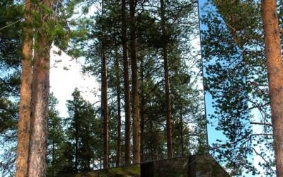 огледало-хотел на дрво