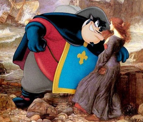 Јунаците од цртаните филмови вметнати во познати слики