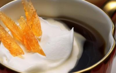 Крем од кафе со прелив од портокал