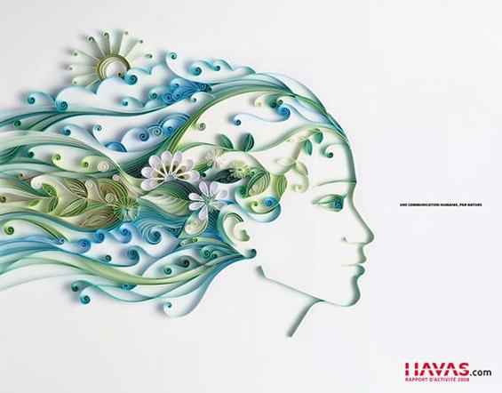Елегантни хартиени илустрации со многу детали