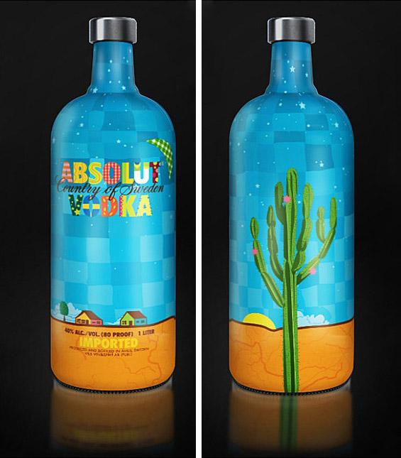 Прекрасно дизајнирани шишиња за вотка