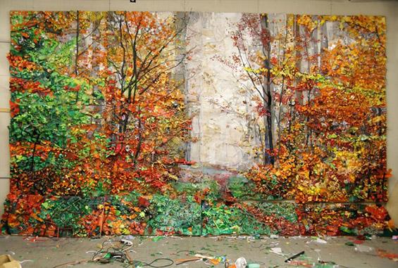 Есенски пејзажи направени од ѓубре
