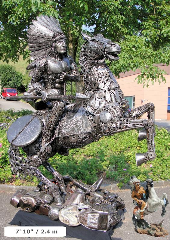 Скулптури изработени од автомобилски делови