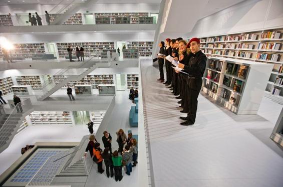 Ултрамодерна библиотека во Штутгарт