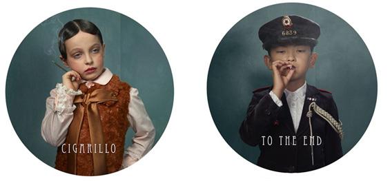 Контроверзни фотографии со деца кои пушат цигари