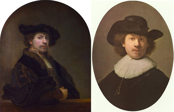 Автопортретите на големите ренесансни и барокни мајстори