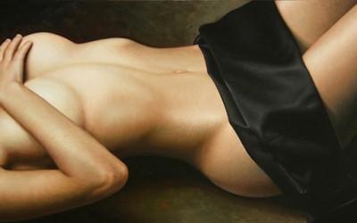 Прекрасни хиперреалистични цртежи со голи девојки