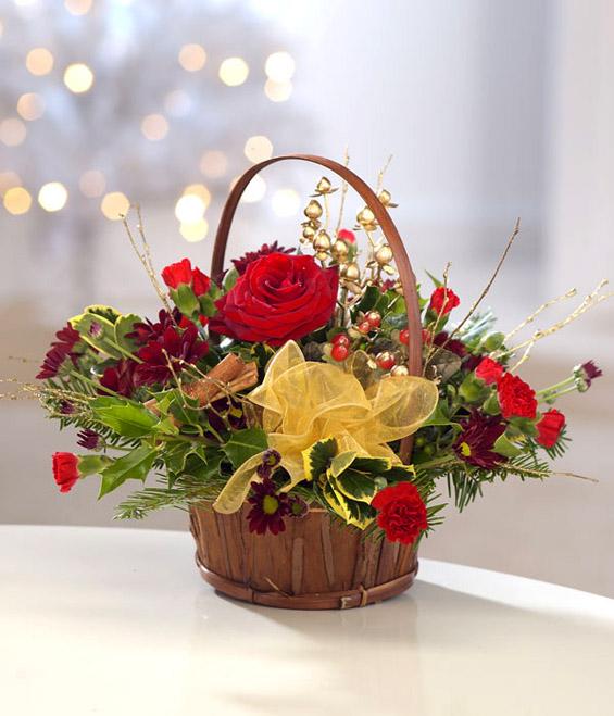 Божиќни цветни декорации