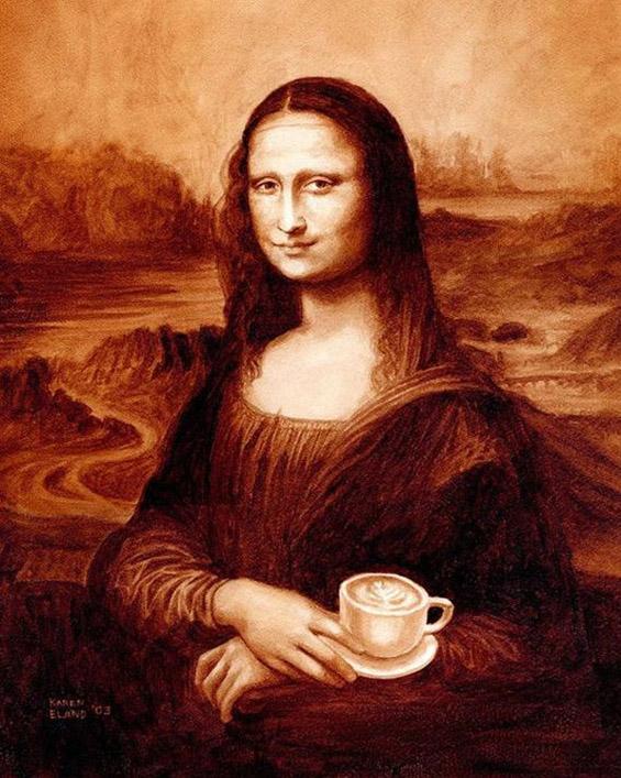 Уметнички дела изработени со еспресо