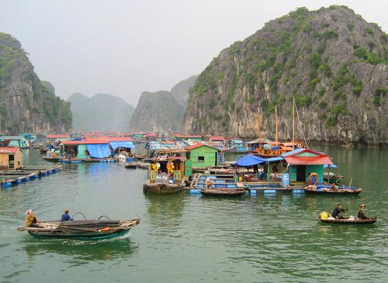 Рибарски селца над вода