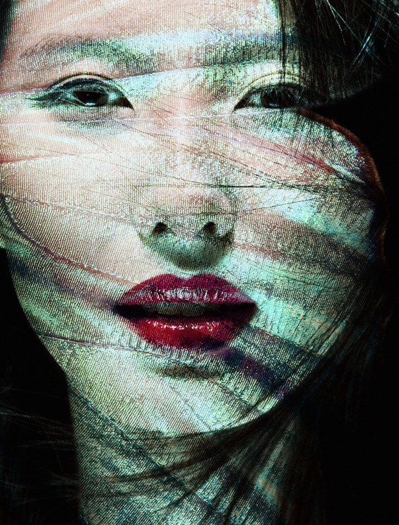 Метаморфоза на женско лице во пеперутка