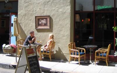 На кафе во Прага