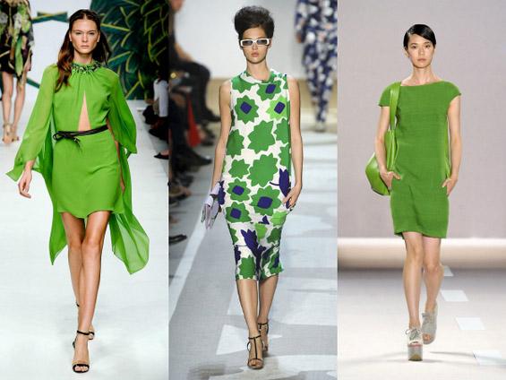 Жешки трендови на бои за пролет 2012