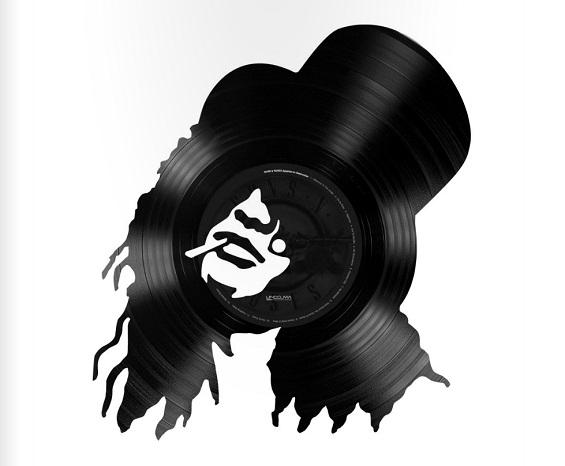 Винилни плочи со портрети на музички легенди