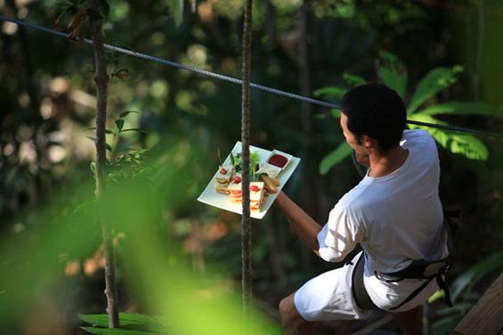Романтичен ручек помеѓу листовите од дрвјата