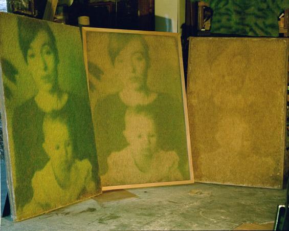 Еко уметност: портрети од вистинска трева