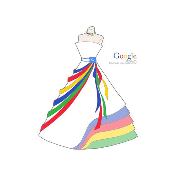 Познатите веб-сајтови преобразени во вечерни фустани