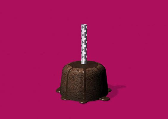 Чоколадна свеќа која можете да ја изедете