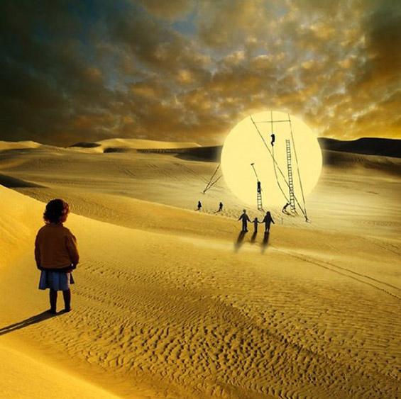 Надреални фотографии инспирирани од детската имагинација