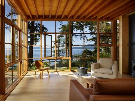 Современи дневни соби со отворен поглед кон надвор