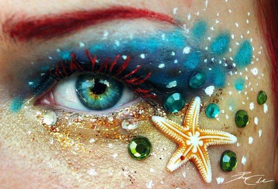 Фантастичен уметнички спој на човечкото око со природата