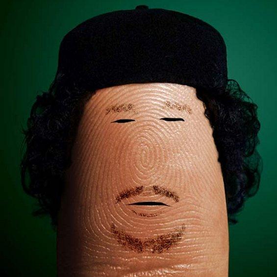 Смешни портрети изработени на прстите од рацете