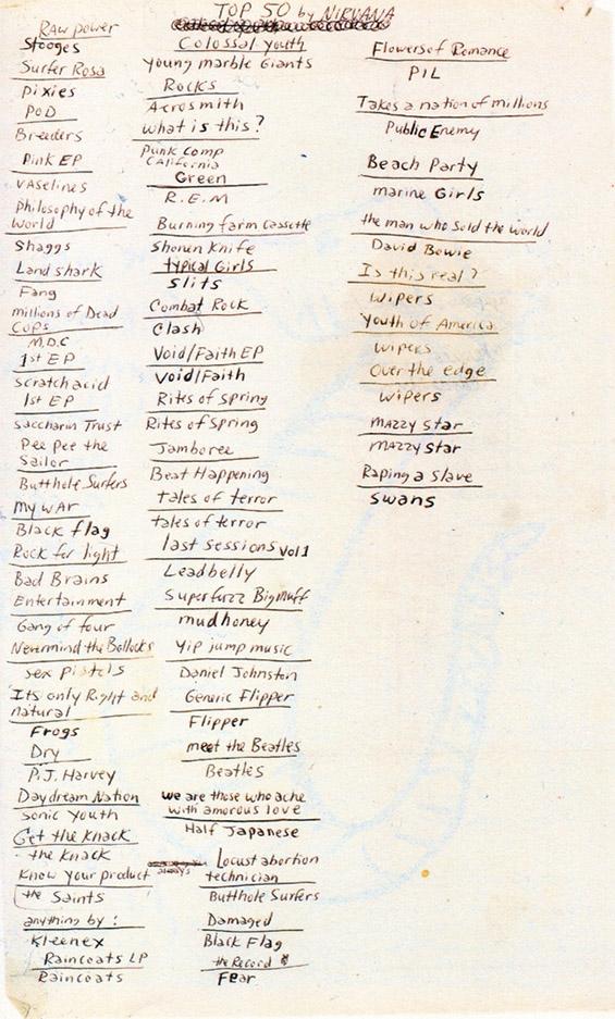 Омилените музички албуми на Курт Кобејн