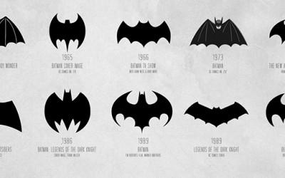 Еволуцијата на логото на Бетмен