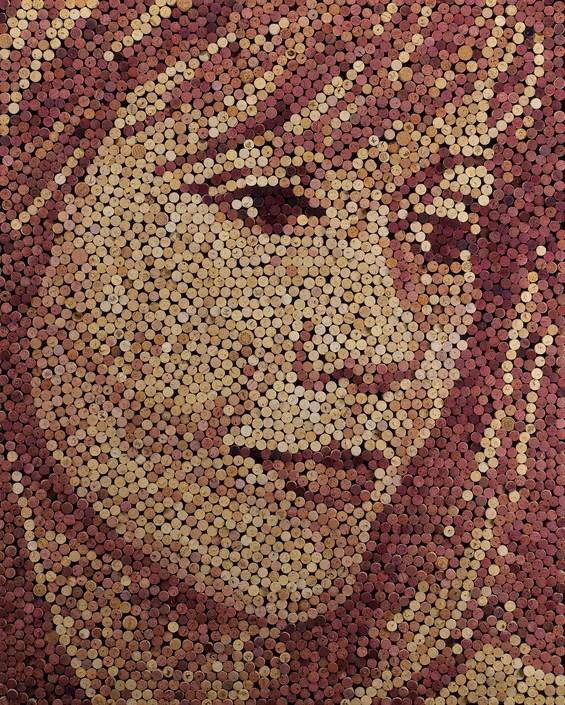 Слика со помош на тапи за вино
