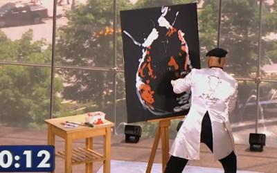 Уметник се обидува да нацрта слика за 90 секунди