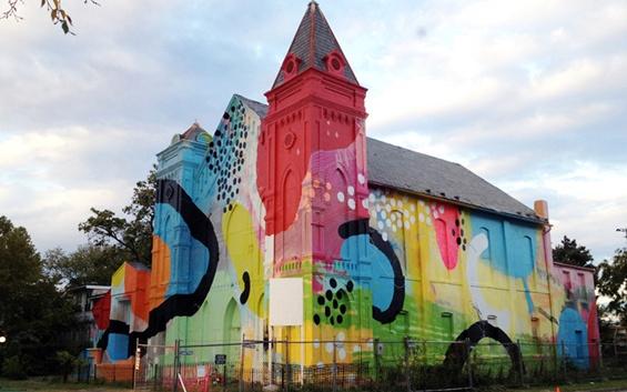 Графити црква - вистинска шарена преобразба