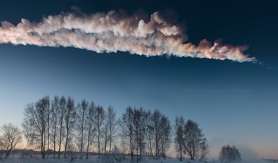 Уникатни фотографии од експлозијата на метеорот над Челјабинск