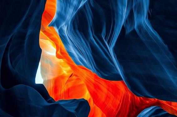 Драматични пејзажи од внатрешноста на кањонот Антилоп