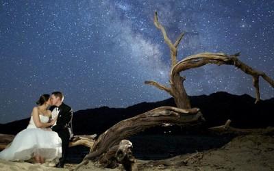 Фотосесија од веридба и свадба под ѕвездено небо