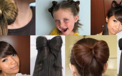 Разни стилови на машна-фризура за долга и за кратка коса