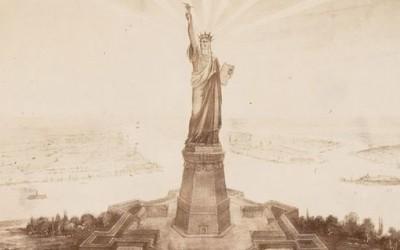 Ретки фотографии од изградбата на Статуата на Слободата во Париз