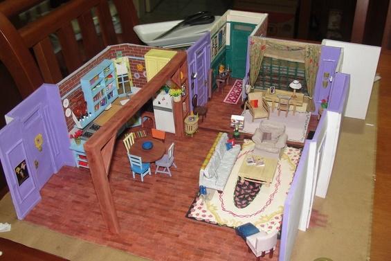 """Хартиен модел од станот на Моника од """"Пријатели"""""""