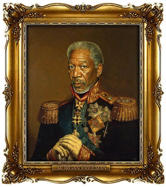 Славните личности насликани како руски генерали
