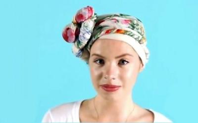 3 кул начини за врзување марама за коса