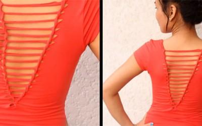 Направете стилска и модерна од обична памучна маичка