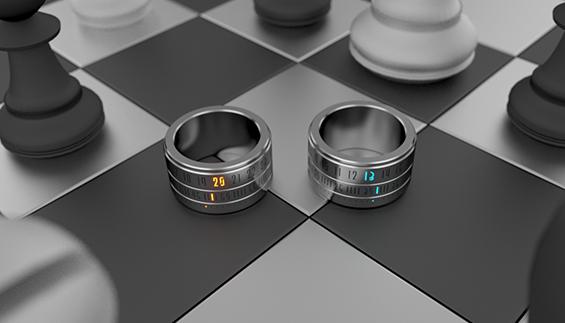 Часовник во вид на стилски прстен