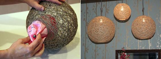 Направете сами: Интересен лустер со коноп и топка за на плажа
