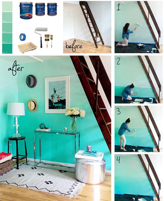 Како да го бојадисате вашиот ѕид во омбре стил?