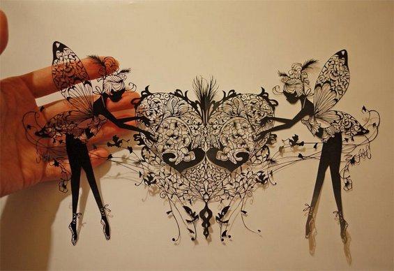 Неверојатна уметност направена само со еден пар ножици